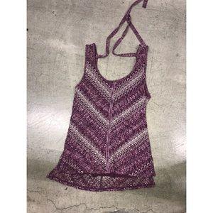White House black market burgundy knit tank top